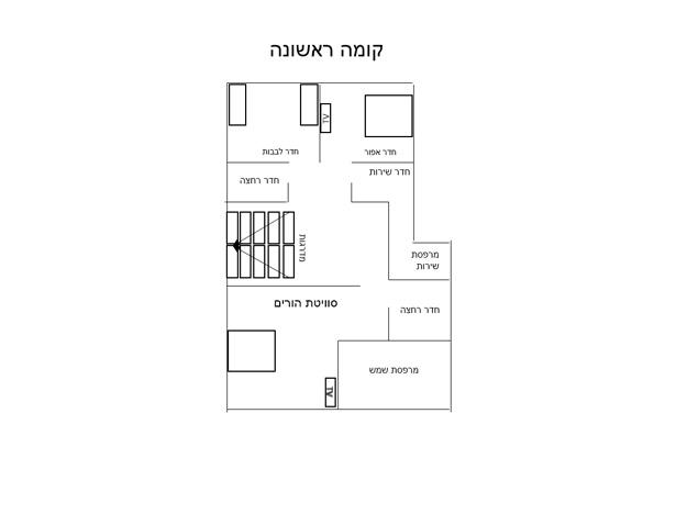 תוכנית הוילה – קומה ראשונה